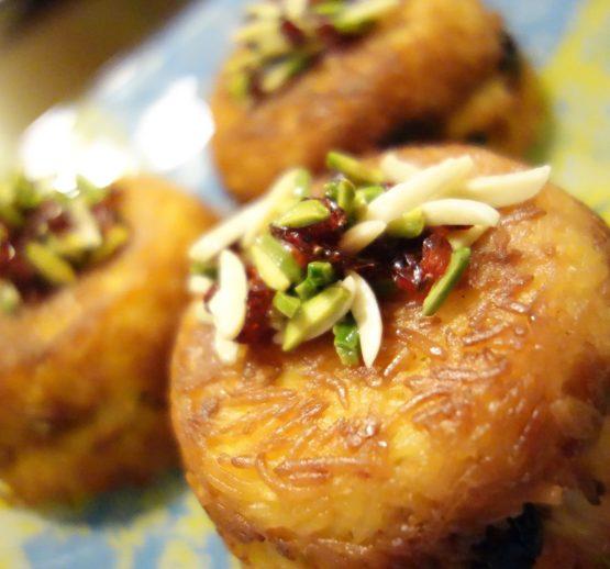 Tahchin (Chicken or vegetarian)