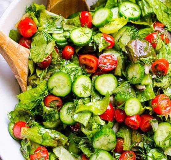 Romaine Salad with Honey Mustard Dressing